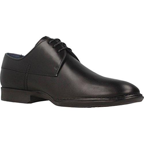 Derby Alonso Para negro Cordones De Hombre Zapatos Negro Fluchos d1zqwBIx1