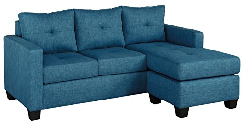 Homelegance Phelps 78″ Tufted Sectional Sofa with Reversible Chaise, Blue