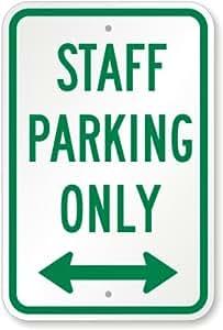 """Personal aparcamiento Sólo con bidireccional flecha signo, 18""""x 12"""""""