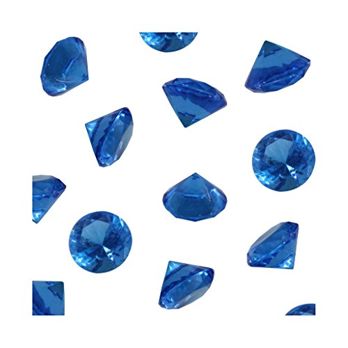 Royal Acrylic Diamond Vase Fillers 1 Pound - 240 pcs 3/4 Inch Wedding Party Event Banquet Birthday Decoration Crystals Gem Table Scatters (Royal, 240 pcs)]()