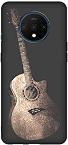For Oneplus 7T Mobile Case Painted Cartoon Guitar Pattern Cover