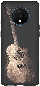 حافظة للهاتف المحمول Oneplus 7T مطبوع عليها صورة جيتار كرتونية