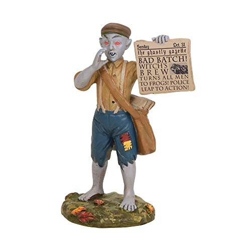 Department 56 Village Collections Accessories Halloween Bad News Paperboy Figurine, 3
