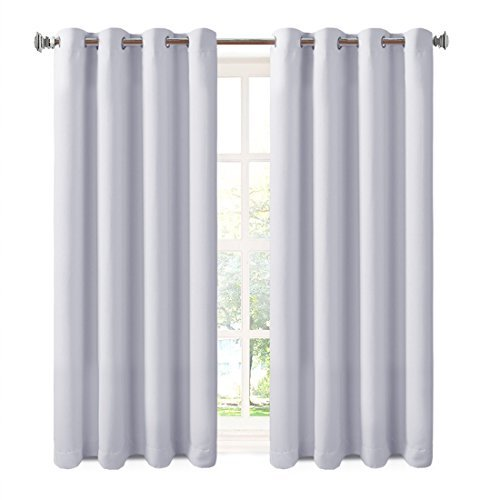 Balichun 2 Panels Blackout Curtains Thermal Insulated Gromme