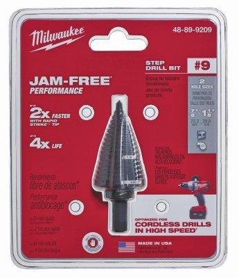"Milwaukee Electric Tool 48-89-9209 Step Drill Bit, 7/8"" to 1"