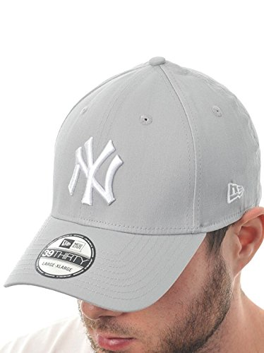 New York Yankees Cap 39THIRTY LEAGUE BASIC grey, S/M