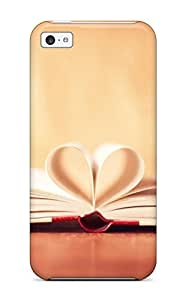 New Arrival Book Pages Folded To Make Heart For Iphone 5c Case Cover by icecream design