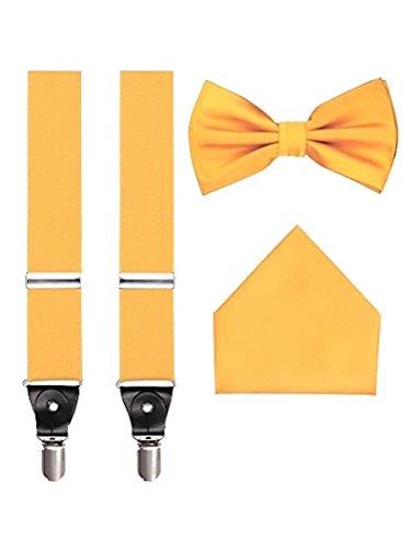 Men's 3pc Suspender Set (Butterscotch Yellow) -