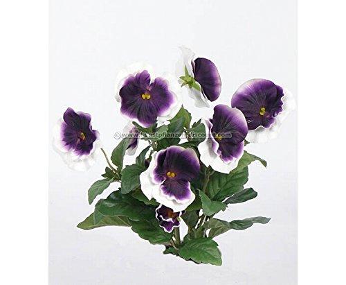 Kunstpflanzen Discount amazon de kunstblume stiefmütterchen busch mit 7 weiß lila farbigen