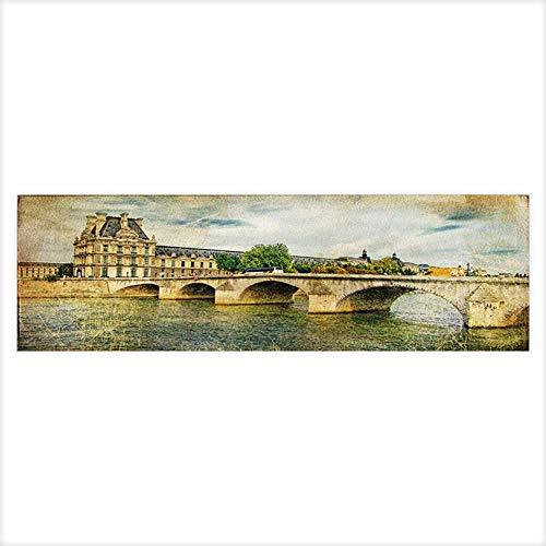(Auraisehome Aquarium Decorative Vintage Parisian Cards Series Aquarium Background Sticker Wallpaper 29.5