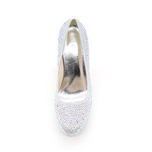 Bleu aiguille a Mariage L amp; Confort Plateau cristal club Up de purple Talon YC Plateforme Chaussures Chaussures Soirée Light Evénement Talon Homme wwqB78Y