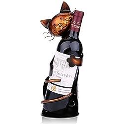 Tooarts Cat Shaped Wine Holder Sculpture