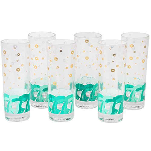 Star Wars Highball Glasses, Set of 6 - Cute Pinache AT-AT Imperial Walker Design - 8 oz by Seven20