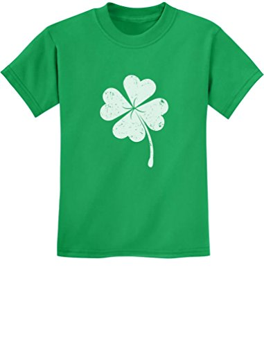 Tstars - St. Patricks Day Lucky Charm Clover Youth Kids T-Shirt Medium ()