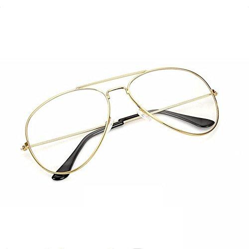 Z&YQ clair lentille lunettes miroir aviateur myopie simple cadre lunettes classiques