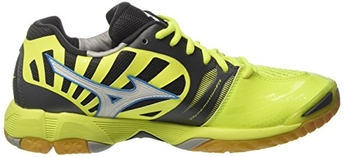 Mizuno Wave Tornado, Scarpe Indoor Multisport Uomo Multicolore (Safetyyellow/White/Darkshadow)