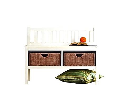 Amazon.com: Hampton Asiento de madera banco de almacenaje ...