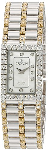 Watch Diamond Ladies Croton (CROTON Women's CN207536TTMP Analog Display Quartz Two Tone Watch)