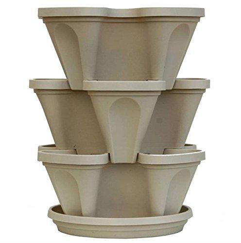 3 Tier Indoor Vertical Stackable Vegetable Flower Herb Ga...