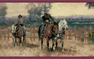 Western Cowboy Horse Wallpaper Border