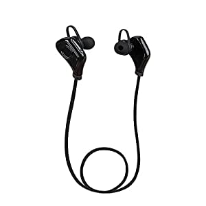 Kingstar Bluetooth Headphones, Wireless Sports sweatproof Earphones with Mic Bluetooth Sport Wireless Headsets In-ear Earbuds for Running Gym Exercise Iphone Samsung with Microphone (black)