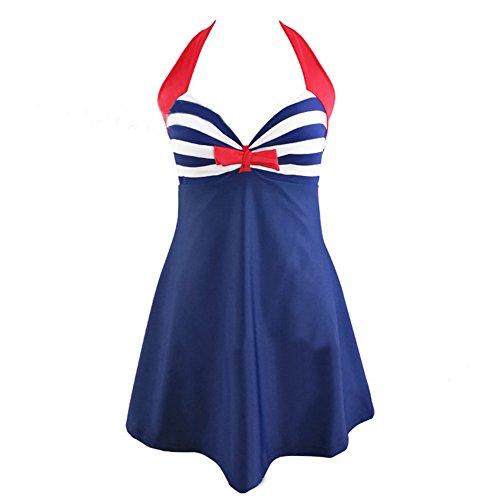 JIANLANPTT Vintage Striped Swimsuit Swimwear
