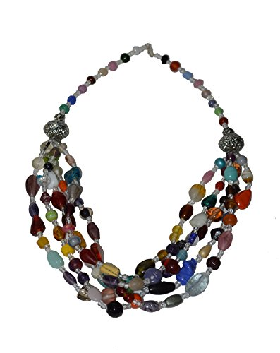 Morocan-Jewerly-Berber-Necklace-Arabic-Colorfull-Glass-Beads