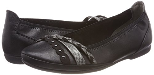 Bailarinas Sintético Tozzi Negro Ant black Mujer Marco 22126 comb Material Para De xnZqBOBWH