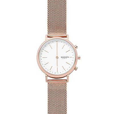 Skagen Connected Women's Mini Hald Stainless Steel Mesh Hybrid Smartwatch, Color: Rose Gold-Tone (Model: SKT1411) by Skagen Connected Watches Child Code