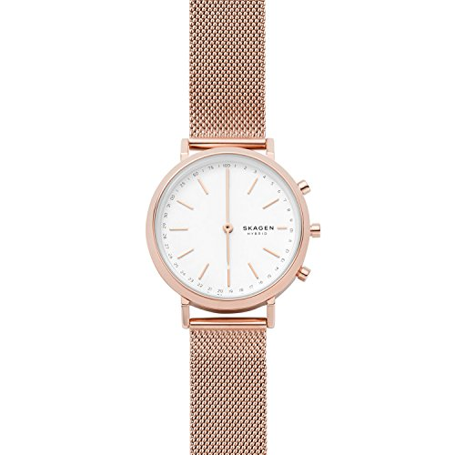 Cheap Skagen Connected Women's Mini Hald Stainless Steel Mesh Hybrid Smartwatch, Color: Rose Gold-Tone (Model: SKT1411)