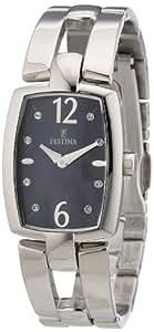 Festina F16549/4 - Reloj analógico de cuarzo para mujer con correa de acero inoxidable, color plateado