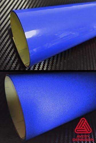 12 x 54 Avery Vinyl Avery Red Reflective Adhesive Automotive Detailing Vinyl Wrap Roll