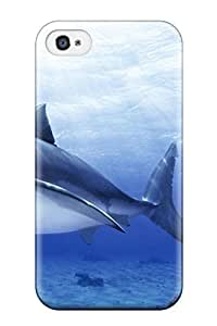 Iphone 4/4s GQeIIgS8083oBuSp Funny Shark Picture Tpu Silicone Gel Case Cover. Fits Iphone 4/4s