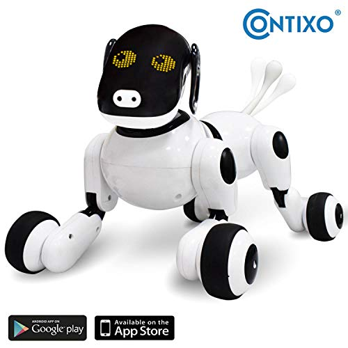 Contixo Puppy Smart Interactive Robot Pet Toy for Kids, Voice, App, and Touch Controlled