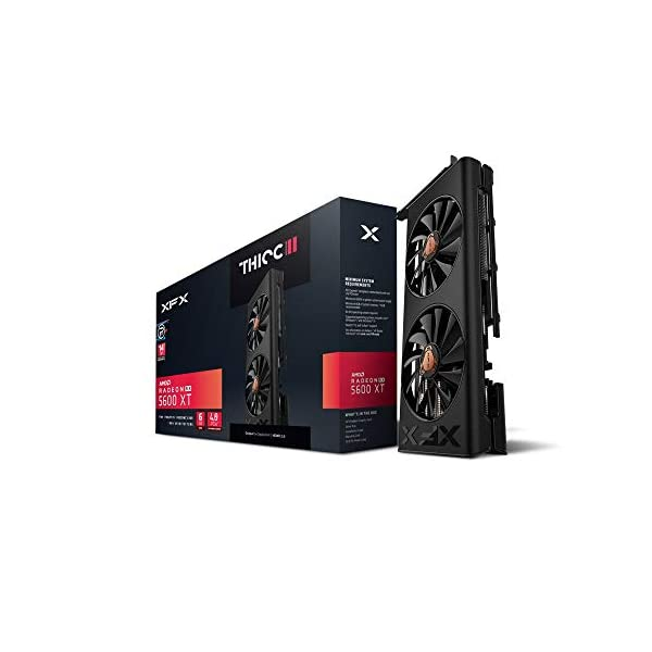 XFX RX 5600 XT Thicc II PRO -14GBPS 6GB GDDR6 Boost UP to 1620MHz 3xDP HDMI Graphics Card RX-56XT6DF46