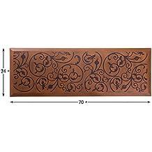 "AMCOMFY Kitchen Anti Fatigue Mat Comfort Floor Mats 24 by 70 Inch ,Antique Series (24""x70""x3/4"", Antique Light)"