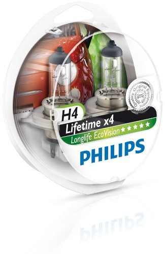 Philips 12342LLECOS2 Lot de 2 ampoules de phare LongLife EcoVision H4 IMPEX SAS 0730537
