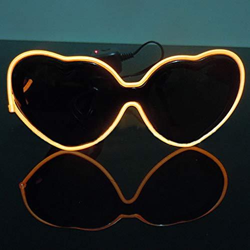 Con Para Fiesta Led Luminosas Led Regalo Amarillo Adultos Zarlle Y Luz Sol Brillantes Gafas Aviador 1ye Halloween De Niños Cumpleaños gafas Navidad qAwwnvPx68