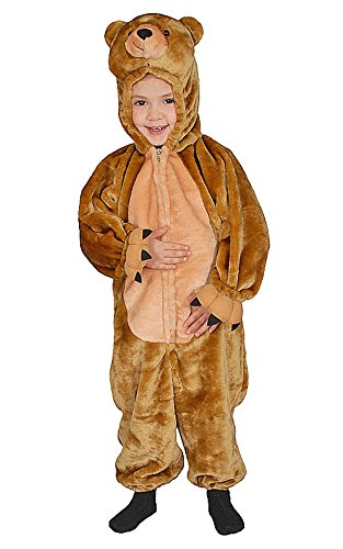Dress Up America Kids Sweet Cuddly Little Brown Bear Costume - Size 4 -