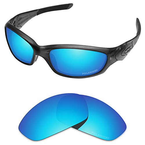 Tintart Performance Lenses Compatible with Oakley Straight Jacket 2007 Polycarbonate Polarized Etched-Sky ()