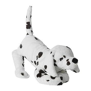 IKEA GOSIG VOVVEN - Peluche, perro, blanco / negro