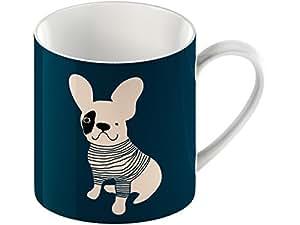 Creative Tops Everyday Home francés Bulldog taza de porcelana, cerámica, azul
