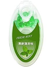 Premium aromkapslar – set med 50 bollar – gör-det-själv mentol klickfilterkapslar, inkluderar en låda för förvaring av aromatiska bollar