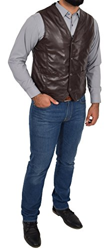 Marron Manche Sans Fashion Goods Homme A1 Gilet vqS8vw