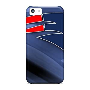 Scratch Resistant Hard Phone Case For Iphone 5c (MFd10254PbSO) Allow Personal Design Stylish New England Patriots Skin