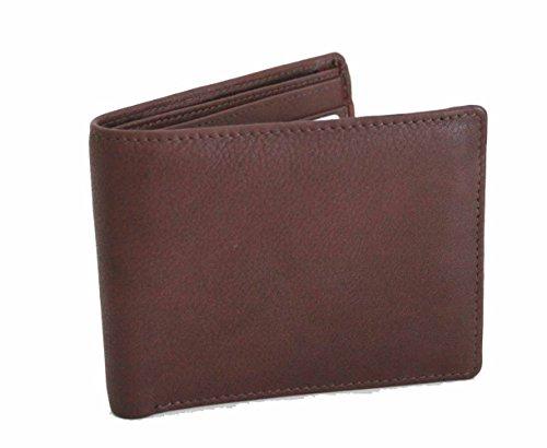 Hidden Billfold (Genuine Leather Men Bifold Wallet with Hidden ZIP Pocket)