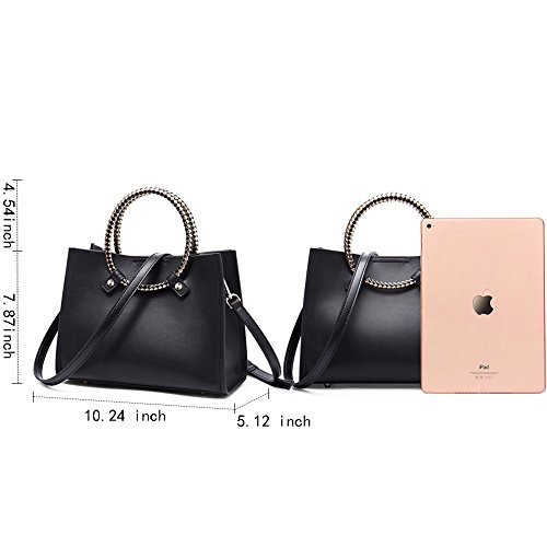 Handle Bags Shoulder Hobo Totes Purse Leather Top Handbags Women's 5 black Body NAWO Cross xFn1P8vvw4