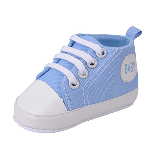 Ochine Color Caramelo Antideslizante Bebe Nino Nina Zapatos Cuna Unico Suave Zapatos Azul£¨A2)