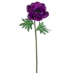 "21"" Silk Anemone Flower Spray -Purple (Pack of 12) 19"