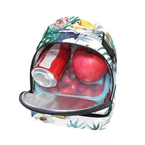 almuerzo aislante FOLPPLY para de para con escuela de la correa ajustable pincnic con el Bolsa estampado floral hombro HUrxYU